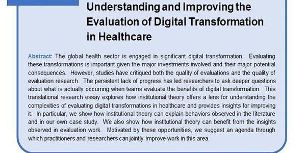 ارزش نظریه نهادی برای درک و بهبود ارزیابی تحول دیجیتال در بهداشت و درمان- دکتر سعید اخلاقپور