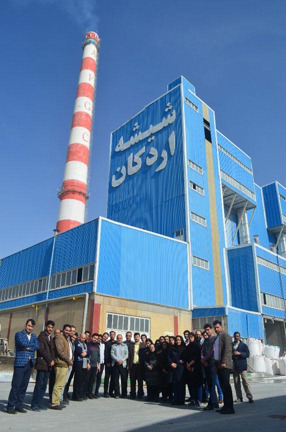 عارضهیابی از صنایع استان یزد - بازدید از کارخانه شیشه اردکان