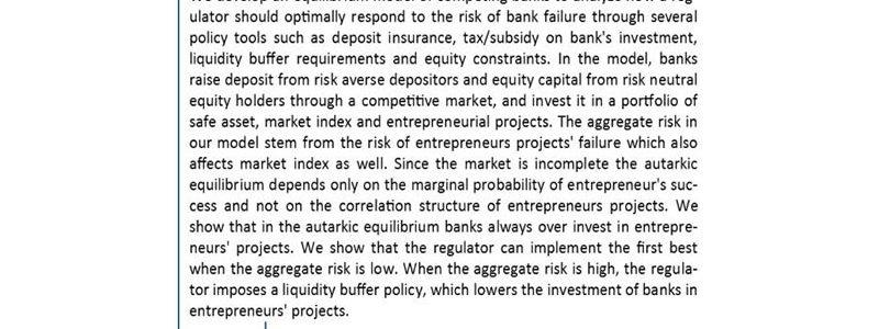 تجمیع ریسک رقابت بانک و قانون گذاری در مدل تعادل عمومی- دکتر احمد پیوندی