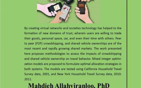 حمل و نقل و جابجایی در عصر اقتصاد اشتراکی- دکتر مهدیه الهویرنلو