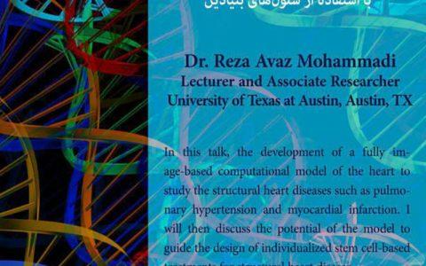 مدلسازی محاسباتی قلب برای بیماریهای ساختاری قلب و طراحی معالجه با استفاده از سلول های بنیادین- دکتر رضا عوض محمدی