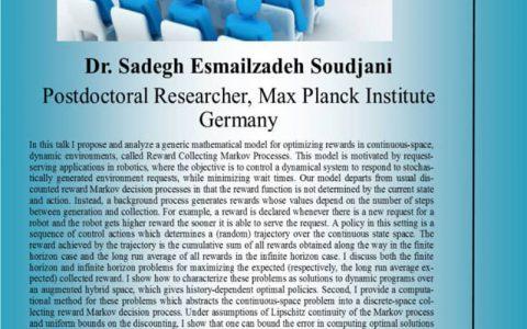 سنتز کنترل کننده برای پاداش جمع آوری فرآیندهای مارکوف در فضای مداوم- دکتر صادق اسماعیل زاده سودجانی