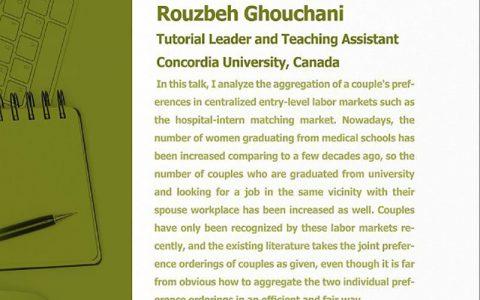 سفارشات ترجیحی اشتراکی برای یک زوج در بازار کار- دکتر روزبه قوچانی