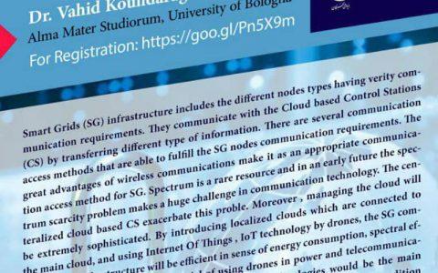 کاربردهای اینترنت اشیا در شبکه هوشمند با استفاده از پرنده ها- دکتر وحید کوه درق