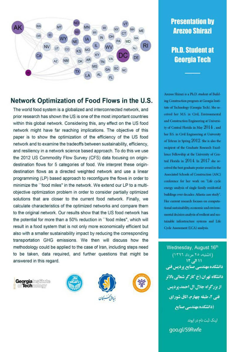 Network Optimization of Food Flows in the US ‌