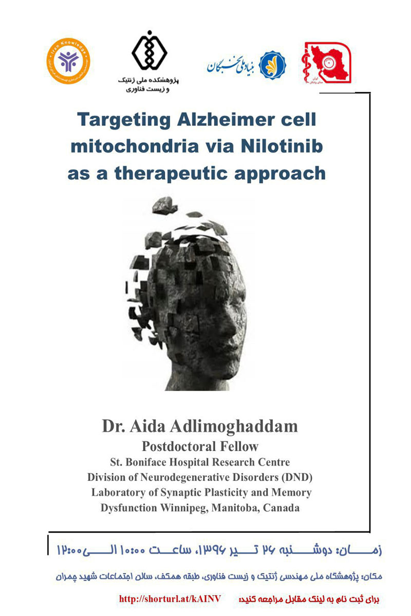 Targeting Alzheimer cell mitochondria via Nilotinib as a therapeutic approach