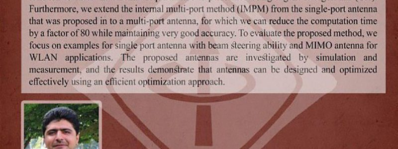 روش های سیستماتیک برای طراحی و بهینه سازی آنتن ها برای سیستم های ارتباطی بی سیم آتی- دکتر صابر سلطانی