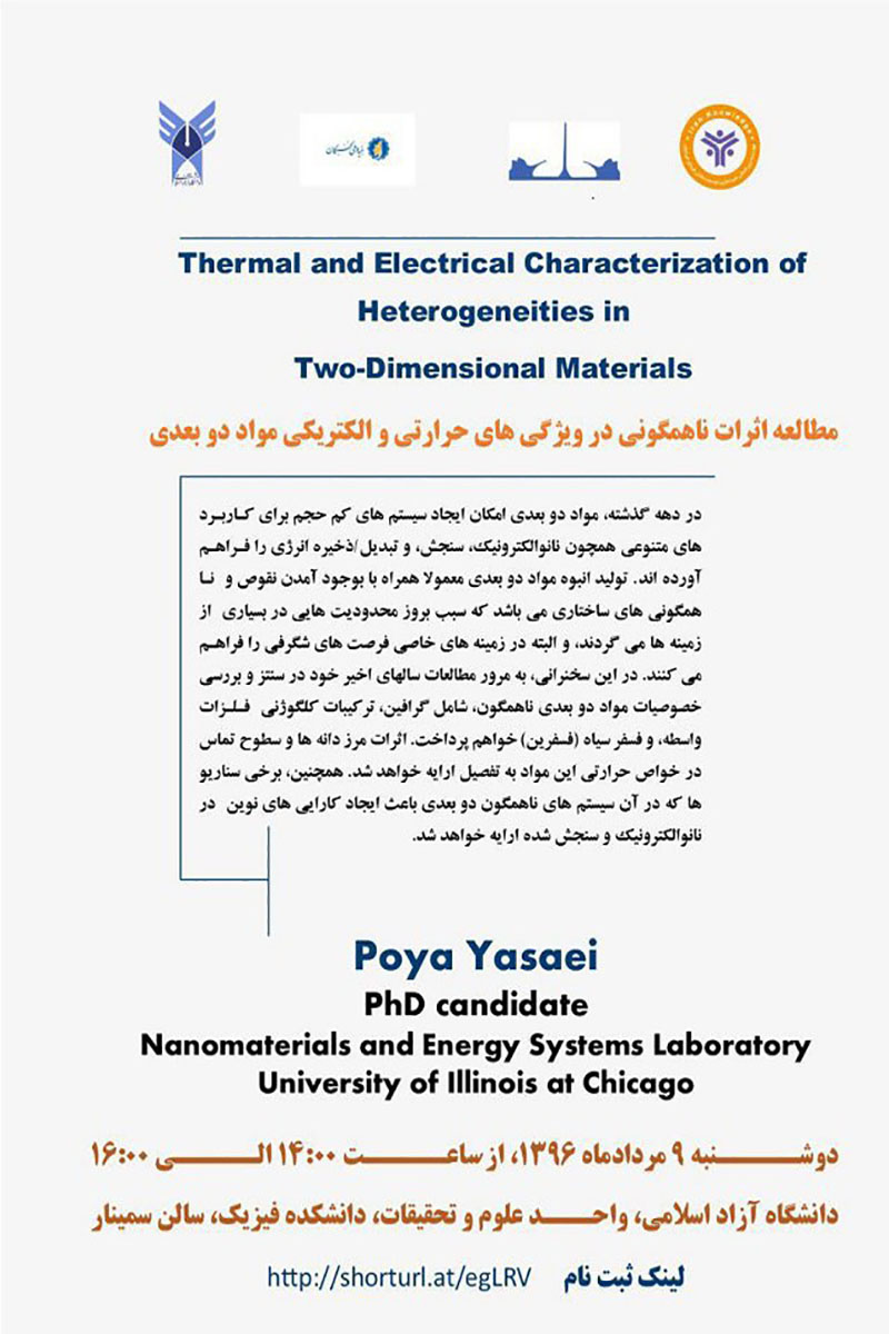 thermal and electrical characterization of heterogeneities in two dimensional materials