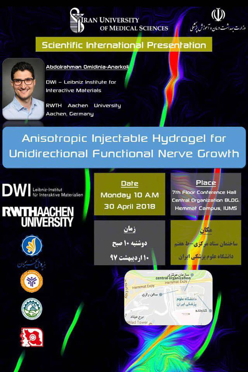 anisotropic Injectable Hydrogel for Unidirectional Functional Never Growth