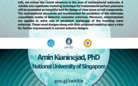 ساختارهای الکترومغناطیسی مصنوعی در مهندسی آنتن- دکتر امين كيانی نژاد