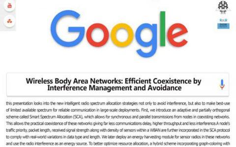 شبکه های ناحیه بدنه بی سیم: همزیستی کارآمد توسط مدیریت مداخله و جلوگیری از جلوگیری-  سمانه موثقی