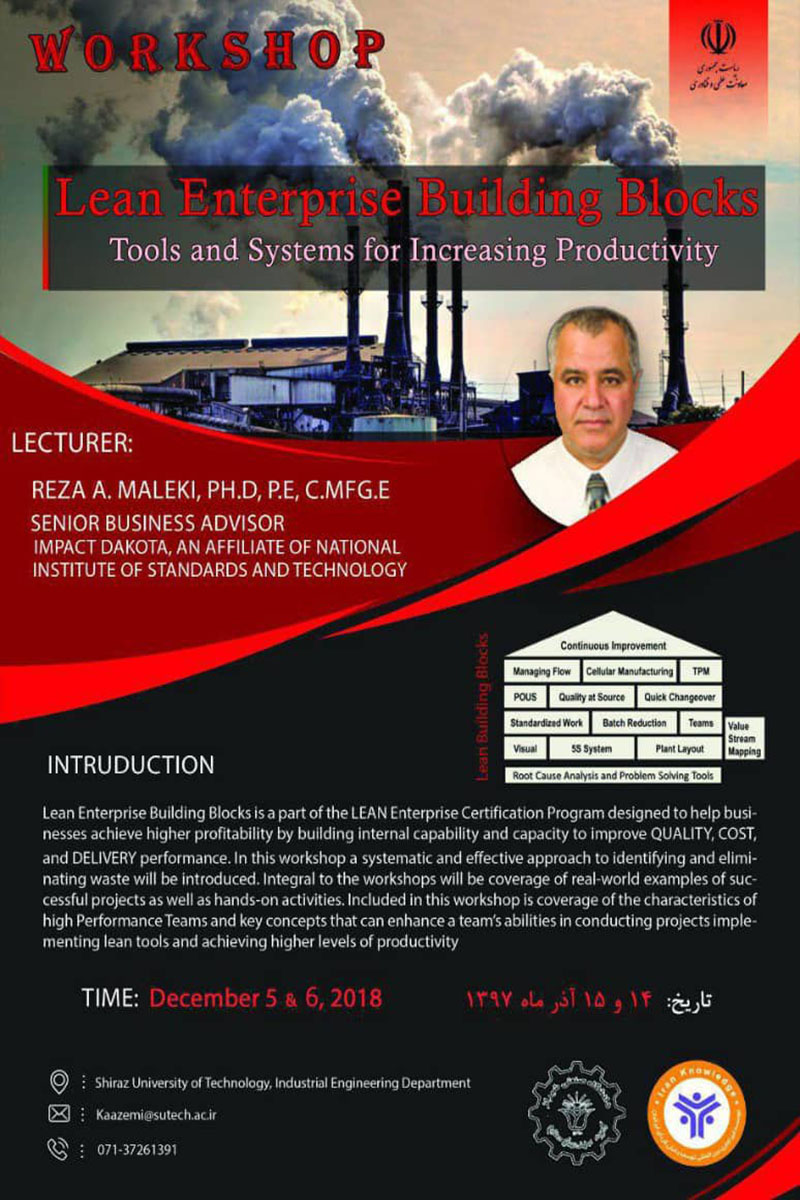 Lean Enterprise Building Blocks, Tools and Systems for Increasing Productivity