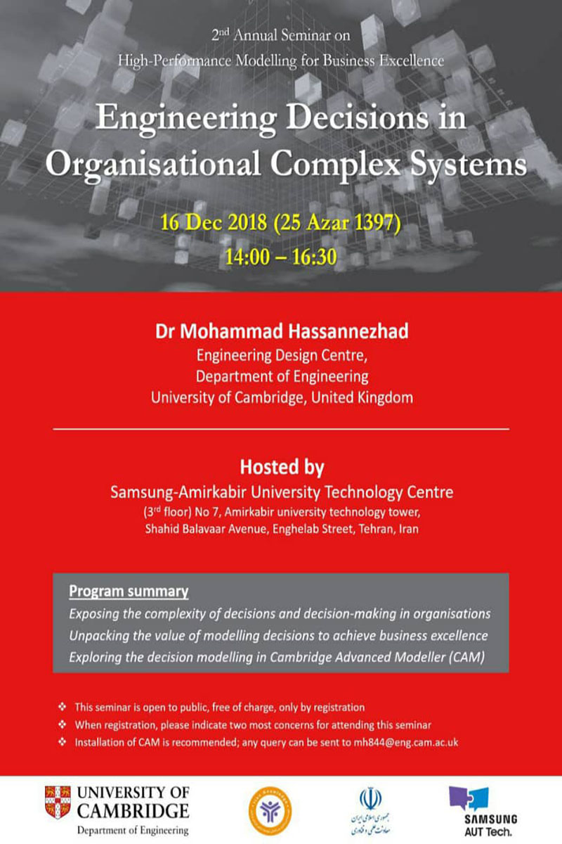 engineering Decisions in Organisational Complex Systems